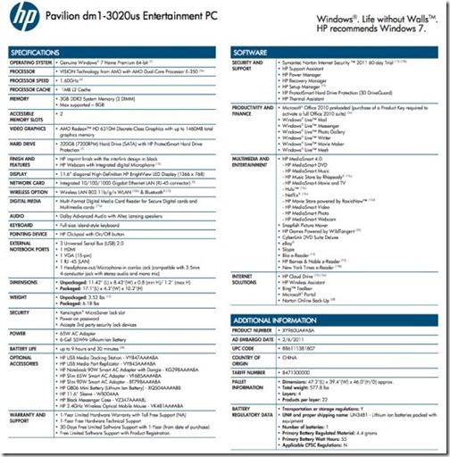 """Võitlus parima """"netbook"""" tiitlile on alanud – HP Pavilion DM1"""