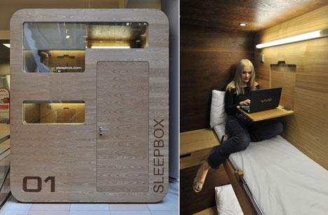 Esimesed Sleepbox hosteli kuubikud on jõudnud Moskva lennujaama