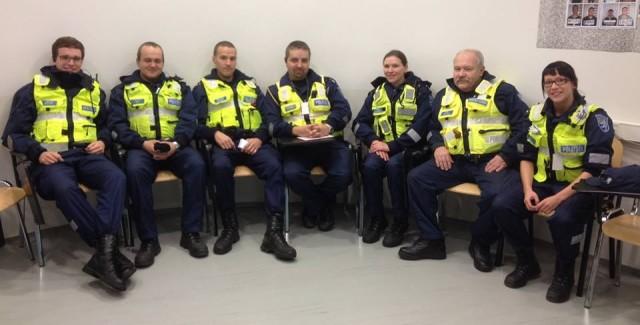 Kesklinna patrullpolitseinikud alustavad reedest tööpäeva.