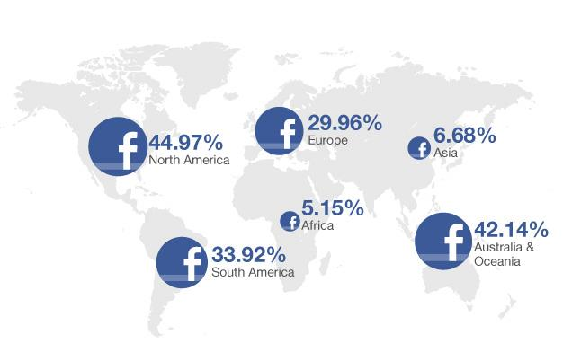 Compiled for you facebook over 1 billion users heres a little map of the world that shows where facebook is used the most gumiabroncs Choice Image