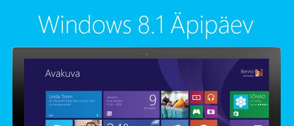 Windows 8.1 Äpipäev – arenduspäev äpimeistritele