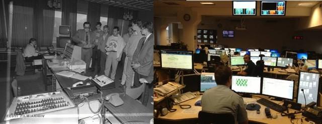 Põhja prefektuuri juhtimiskeskus täna ja 22 aastat tagasi.