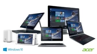 Acer teatab, et kogu 2015. aasta Windowsi-põhine tootevalik on Windows 10 jaoks valmis