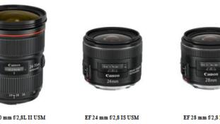 Canon tuli välja kolme uue objektiiviga