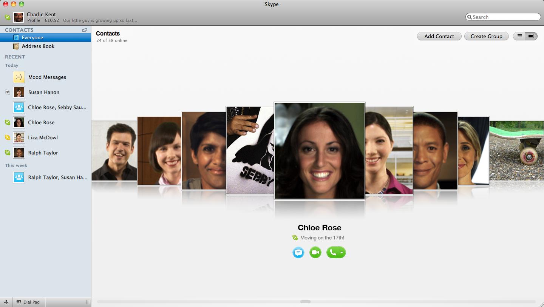 Skype 5.0 for Mac lõppversioon jõudis täna turule