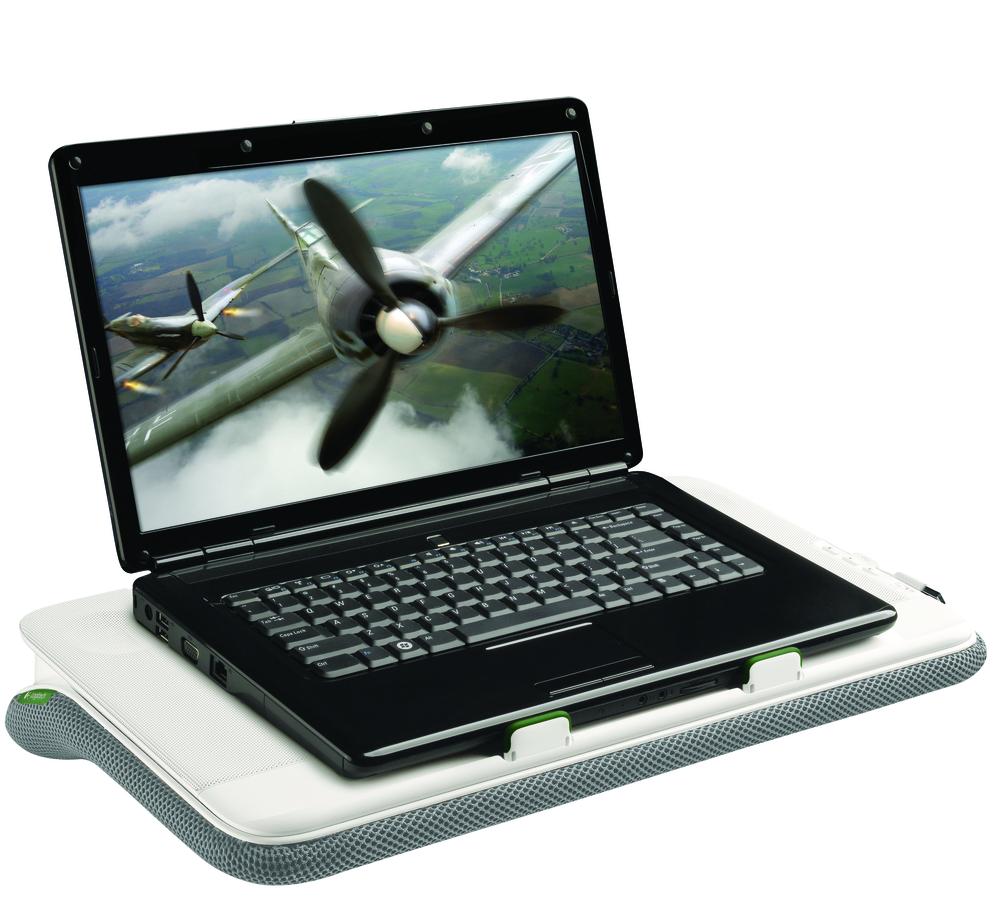 Logitech N700 on kõik ühes – kõlarid, jahutusalus ning pehmenduspadi sülearvuti jaoks