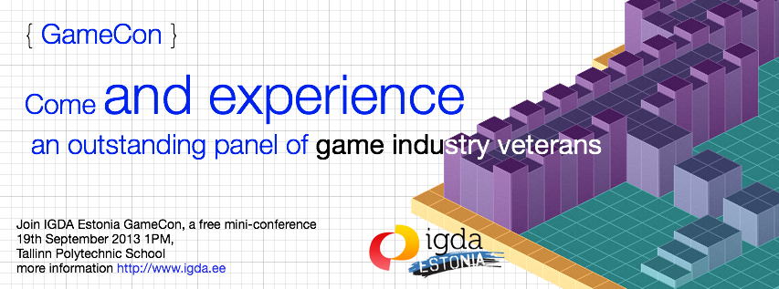 GameCon 2013 – IGDA Estonia Game Conference