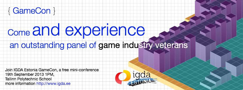GameCon 2013 – IGDA Eesti tasuta mängude konverents