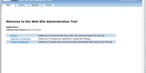 Mida teha kui Web Site Administration Tool ei avane?