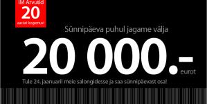 Täna täitub Eesti suurimal Mac'i müüjal IM Arvutid 20 tegevusaastat