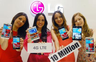 LG on müünud juba rohkem kui 10 miljonit 4G LTE nutitelefoni