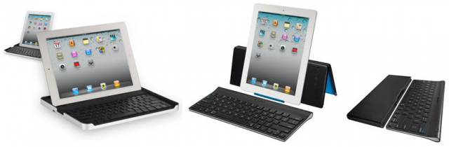 Piltidel: Logitech Keyboard Case for iPad2 ja Logitech Tablet Keyboard for iPad (allikas: Logitech)