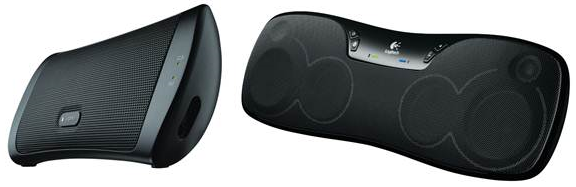 Pildil: Logitech Wireless Speaker for iPad ja Logitech Wireless Boombox (allikas: Logitech)