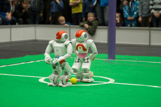 Robotex NAO robotite vastasseis