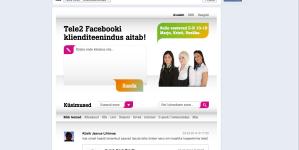 Tele2 avas Facebookis klienditeeninduse