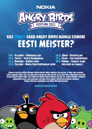 Kes võidab esimese Angry Birds meistritiitli Eestis?