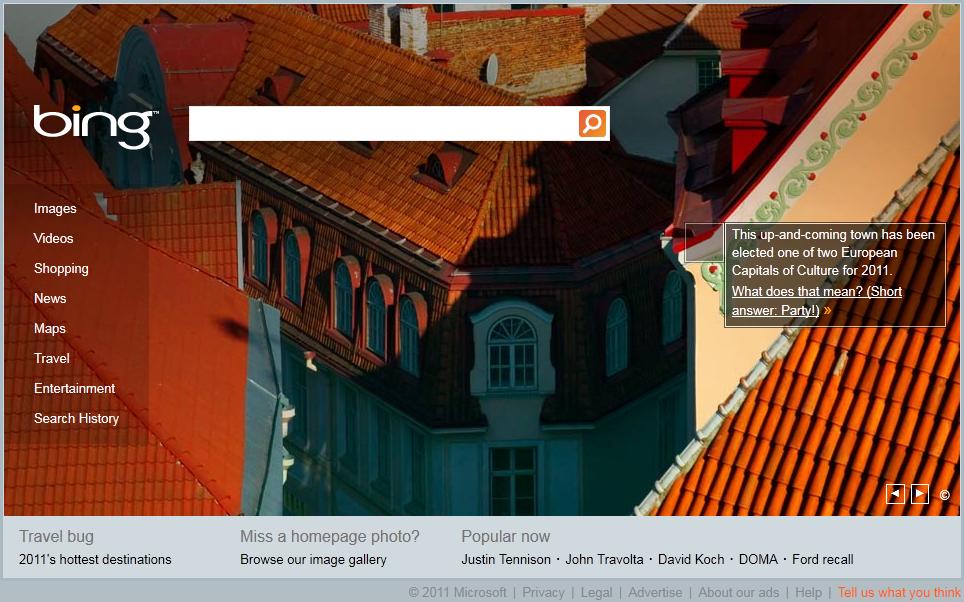 Bing tutvustas Eestit maailmale, Google elab kaasa Iseseisvuspäevale