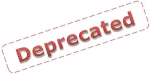 Deprecated funktsionaalsus .NET'is