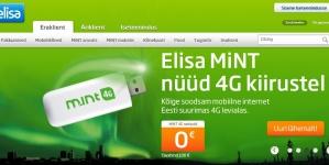 Elisa lisas kõikidesse arvuti- ja mobiiltelefoni pakettidesse 4G Interneti