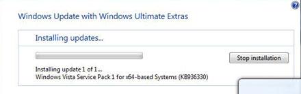 Windows Vista SP1 osaliselt kättesaadav