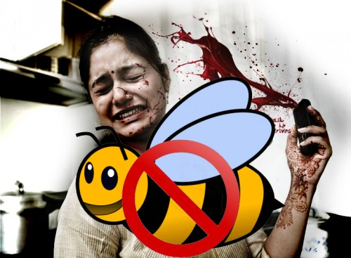 mobile phones killing bees