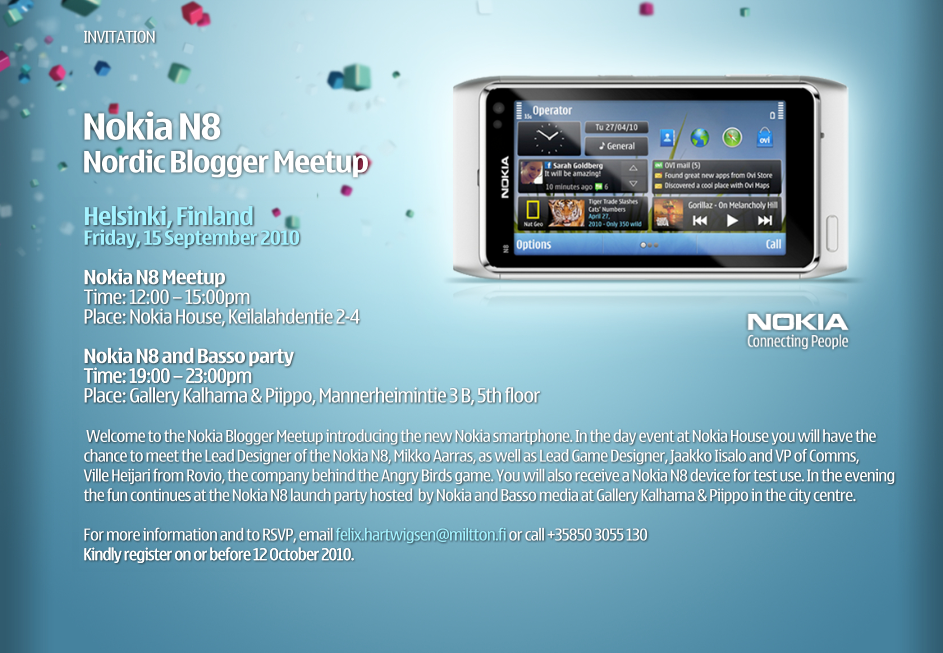 Nokia N8 Nordic Blogger Meetup