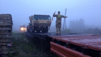 USA pioneeride tehnika liigub mööda raudteed kodubaasi