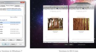 OS X Lion näitab kuidas Shadow Copy oleks tulnud lahendada