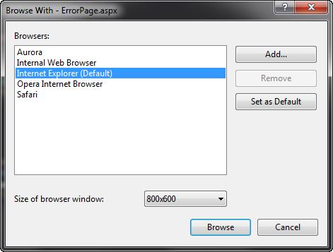 Visual Studio 2010 vaikimisi lehitseja vahetamine