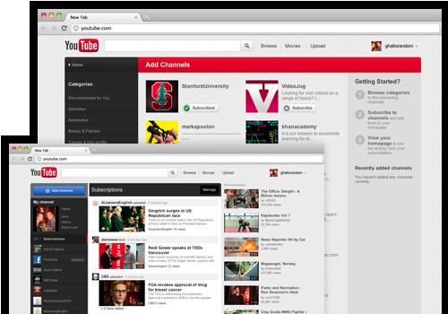 YouTube.com uus välimus